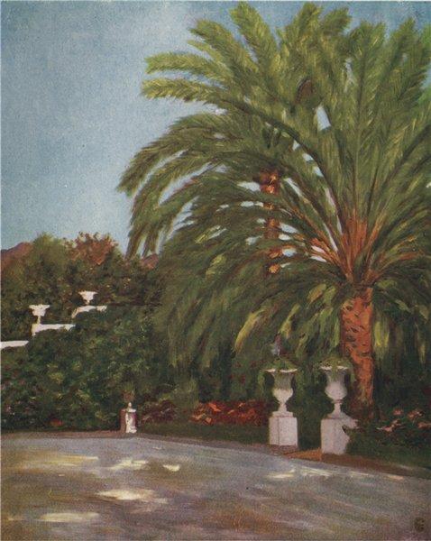 Associate Product 'Garden of the Princess Gortchakow's Villa, Sorrento'. Augustine Fitzgerald 1904