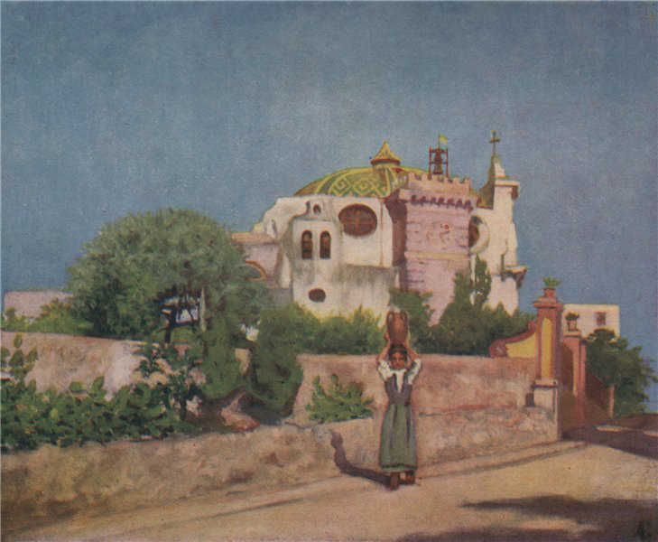 Associate Product 'Church of San Pietro, Ischia' by Augustine Fitzgerald. Italy 1904 old print