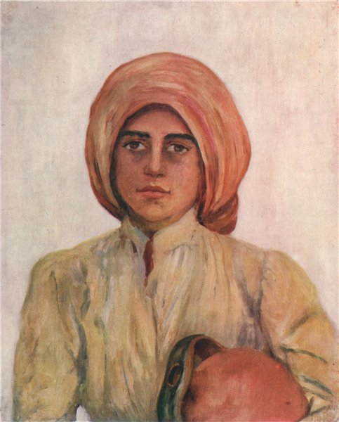 Associate Product CAPRI. 'Peasant girl of Capri' by Augustine Fitzgerald. Italy 1904 old print