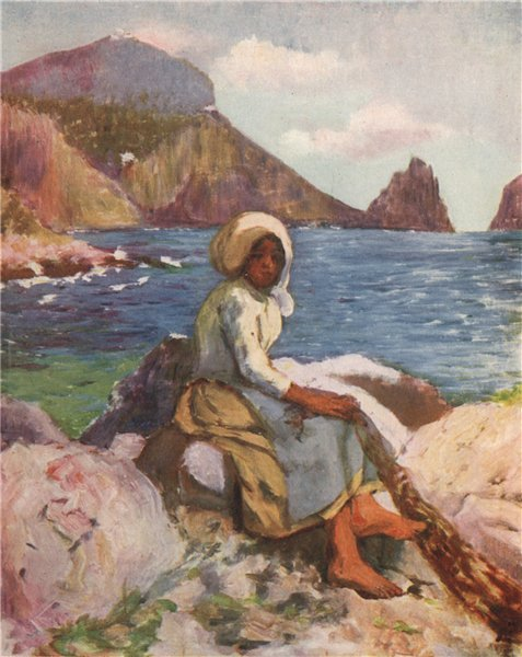 Associate Product CAPRI. 'Fisher girl of Capri' by Augustine Fitzgerald. Italy 1904 old print