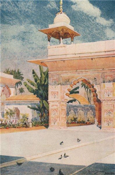 Associate Product DELHI. Red Fort; 'Diwan-I-Khas, Delhi' by Reginald Barratt. India 1913 print