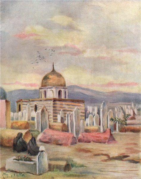 Associate Product DAMASCUS. Tomb of Sitti Fatmeh by Margaret Thomas. Syria 1908 old print