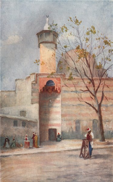 Associate Product 'Mosque of the Holy Flag, Damascus' by Margaret Thomas. Syria 1908 old print