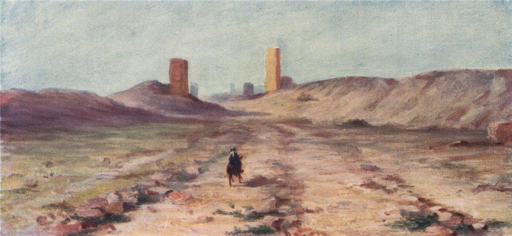 Associate Product PALMYRA. 'Entrance to Palmyra' by Margaret Thomas. Syria 1908 old print