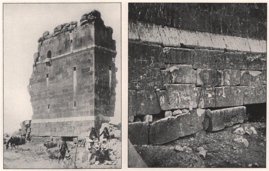 Associate Product 'Kasr el Her; Wusms on the stones of Kasr el Her'. Syria 1908 old print