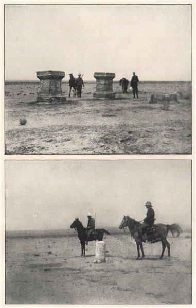 Associate Product '1. Altars near roman road 2. The roman milestone'. Syria 1908 old print