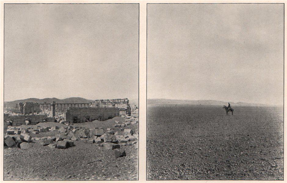 Associate Product 'The Serai, Palmyra; The Quarries, Palmyra'. Syria 1908 old antique print