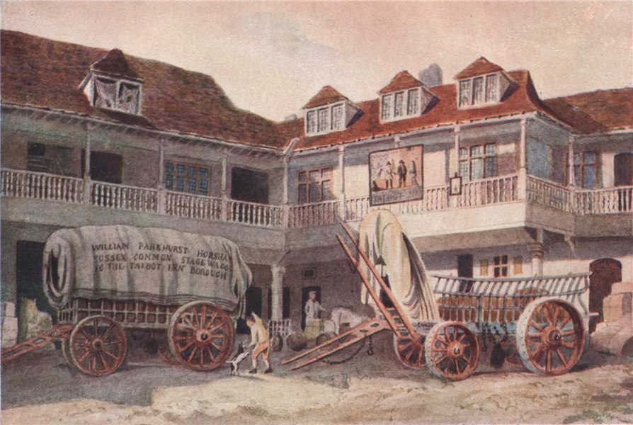 Associate Product 'Tabard Inn, Southwark, 1810' by Philip Norman. Vanished London 1905 old print