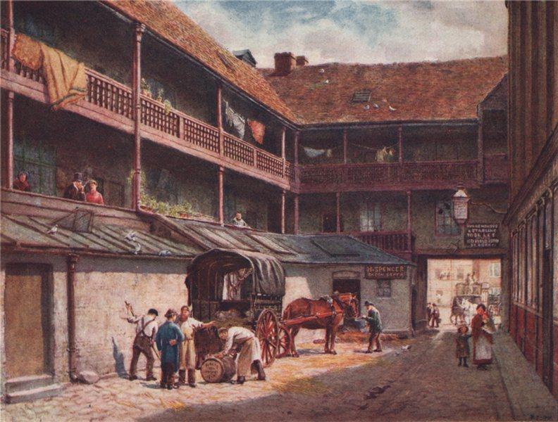 Associate Product 'White Hart Inn, Southwark, 1884' by Philip Norman. Vanished London 1905 print