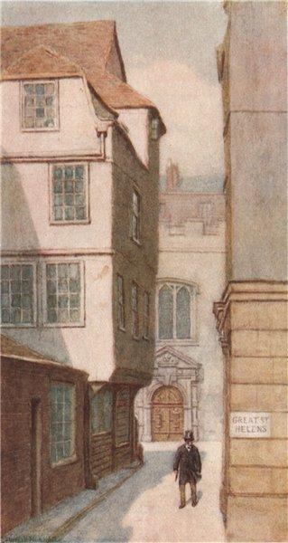 Associate Product 10 Great St. Helen's/St Helen's Church 1893. Philip Norman. Vanished London 1905