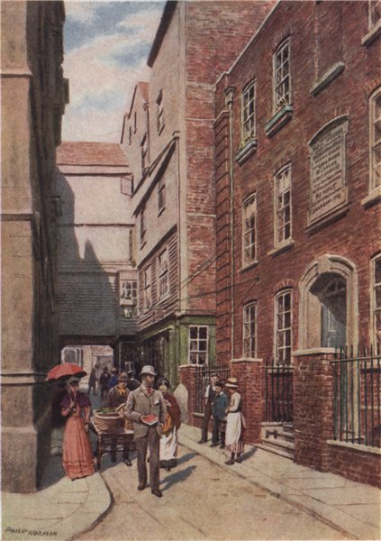 Associate Product 'Entrance to Bishopsgate from Great St. Helen's, 1890'. Philip Norman 1905