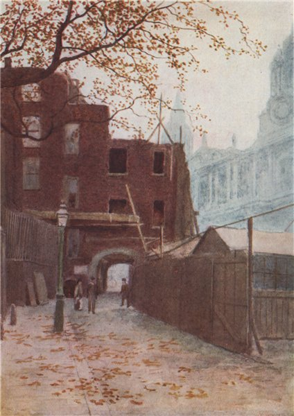 Associate Product Dean's Court, St. Paul's Churchyard, 1894. Philip Norman. Vanished London 1905