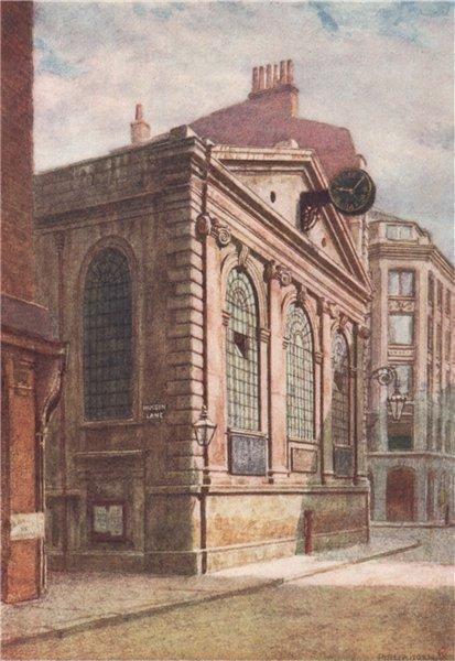 Associate Product St. Michael's church, Wood Street, 1896. Philip Norman. Vanished London 1905