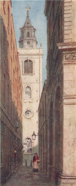 Associate Product 'The Church of St. Michael Bassishaw' by Philip Norman. Vanished London 1905