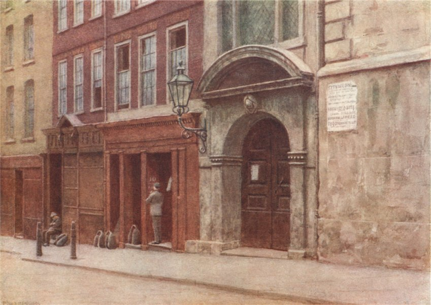 Associate Product St George's church door, Botolph Lane, 1904. Philip Norman. Vanished London 1905
