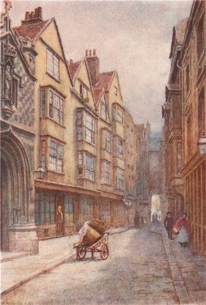 Associate Product 'Cloth Fair, West Smithfield, 1904'. Philip Norman. Vanished London 1905 print