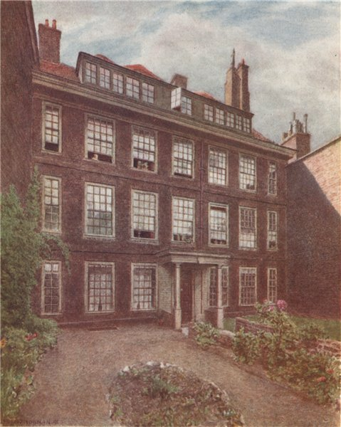 Associate Product No. 10 Nevill's Court, Fetter Lane, 1891 by Philip Norman. Vanished London 1905