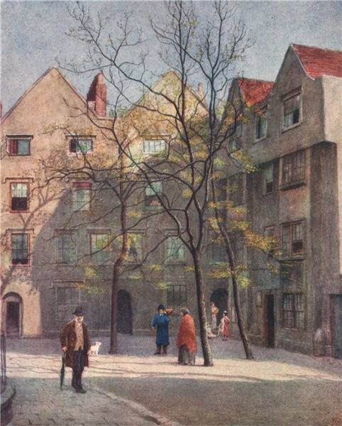Associate Product 'Part of Barnard's Inn, Holborn, 1886' by Philip Norman. Vanished London 1905