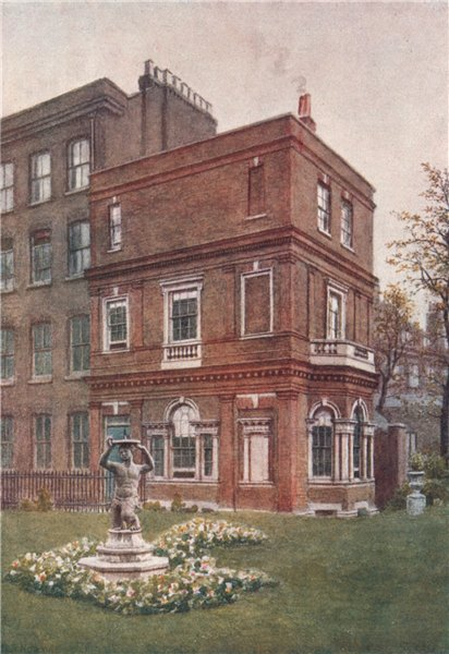 Associate Product 'Garden house, Clement's Inn, 1883' by Philip Norman. Vanished London 1905