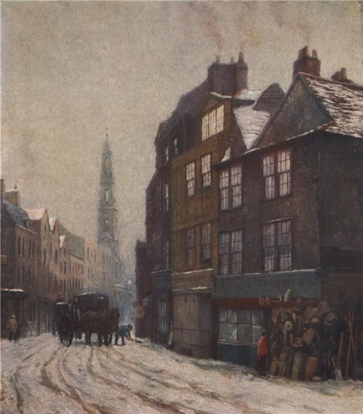 'Nell Gwyn's Lodging, Drury Lane, 1880' by Philip Norman. Vanished London 1905