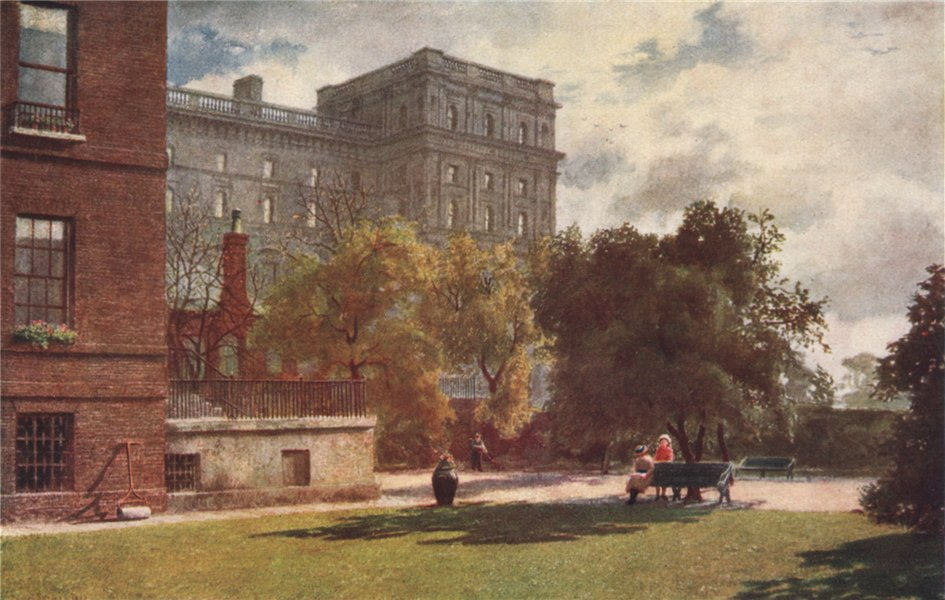 'No. 10 Downing Street, 1888' by Philip Norman. Vanished London 1905 old print