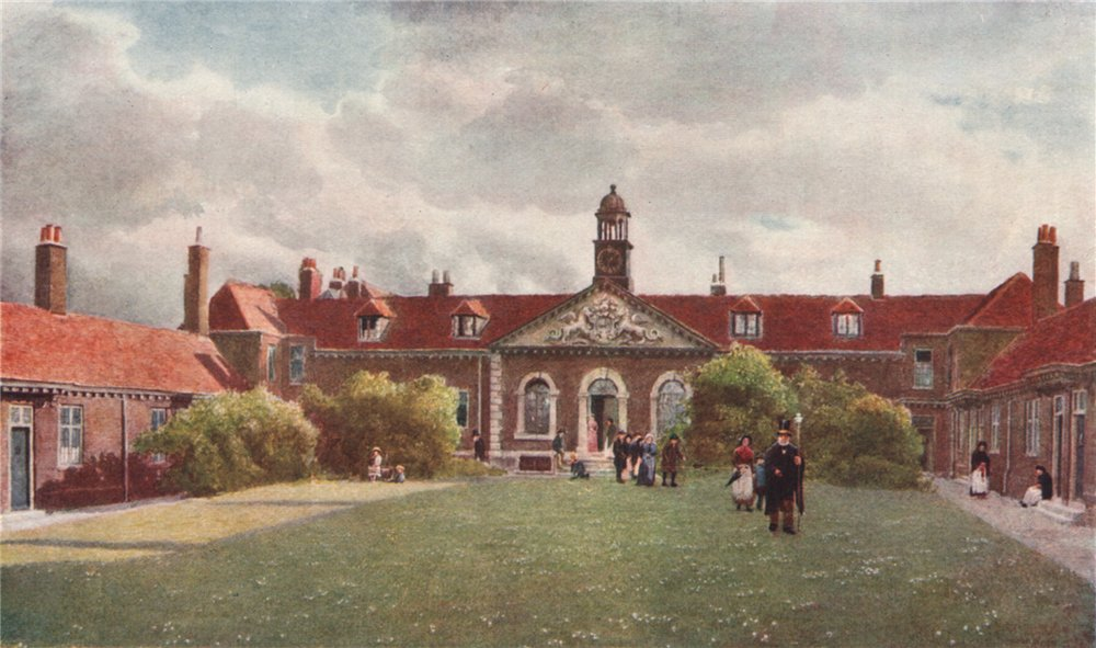 Associate Product 'Emanuel Hospital, Westminster, 1890' by Philip Norman. Vanished London 1905