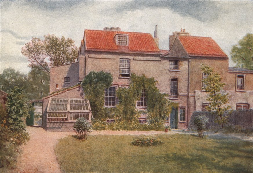 Associate Product Sandford Manor House from the back, 1898 by Philip Norman. Vanished London 1905