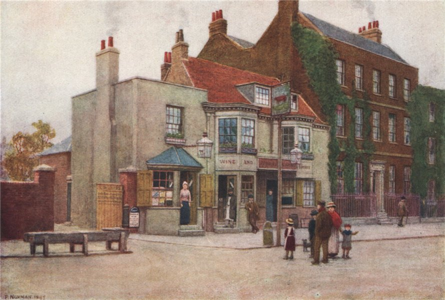 Associate Product 'Red Cow Public-house, Hammersmith Road, 1897' by Philip Norman. London 1905