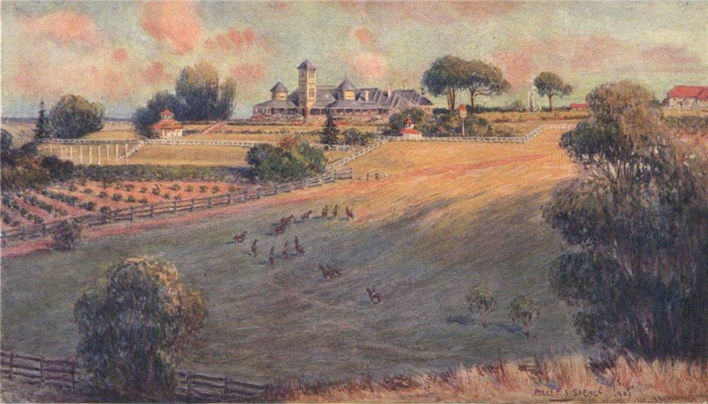 Associate Product 'Belmont Park, an Australian station homestead' by Percy Spence. Australia 1910
