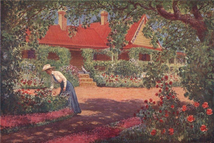 "'""Bobundara"" an Early Australian homestead' by Percy Spence. Australia 1910"