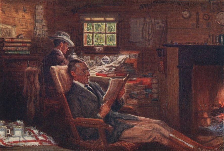 Associate Product 'The office at Bobundara sheep station' by Percy Spence. Australia 1910 print