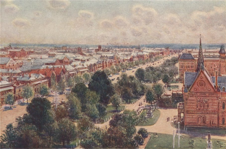 Associate Product ADELAIDE. 'The Garden Streets of Adelaide' by Percy Spence. Australia 1910