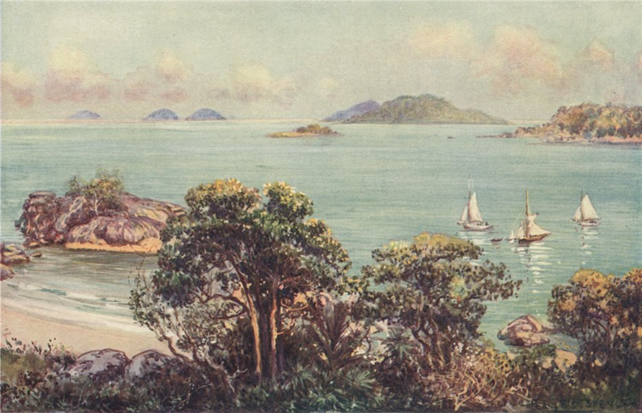 Associate Product 'Hinchinbrook Passage, North Queensland' by Percy Spence. Australia 1910 print