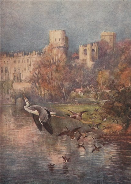 Associate Product 'Warwick Castle' by Frederick Whitehead. Warwickshire 1906 old antique print