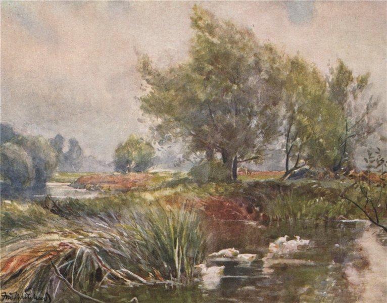 Associate Product 'The Avon, below Stratford-ON-Avon' by Frederick Whitehead. Warwickshire 1906
