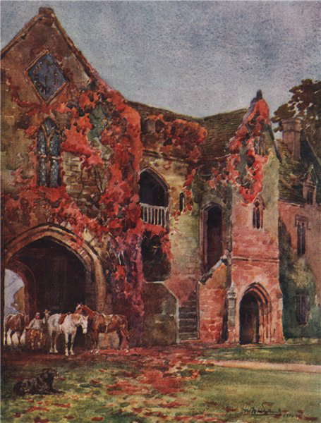 Associate Product 'The Old Gateway, Stoneleigh Abbey' by Frederick Whitehead. Warwickshire 1906