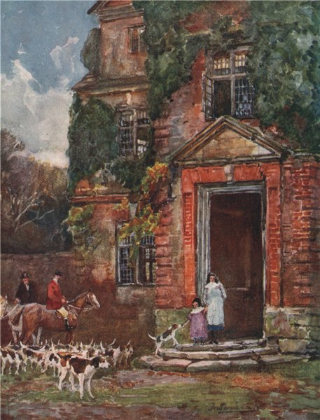 Associate Product 'Packington Old Hall' by Frederick Whitehead. Warwickshire 1906 print