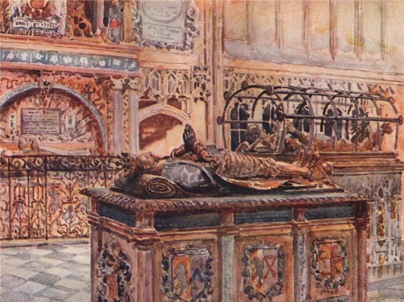 Associate Product 'Beauchamp Chapel, Warwick' by Frederick Whitehead. Warwickshire 1906 print
