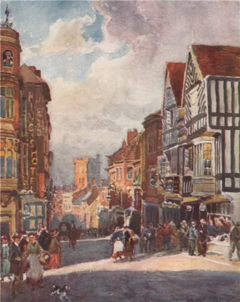 Associate Product 'Peeping Tom, Coventry' by Frederick Whitehead. Warwickshire 1906 old print