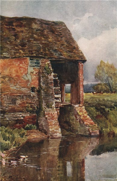 Associate Product 'Weston Mill - near Leamington' by Frederick Whitehead. Warwickshire 1906