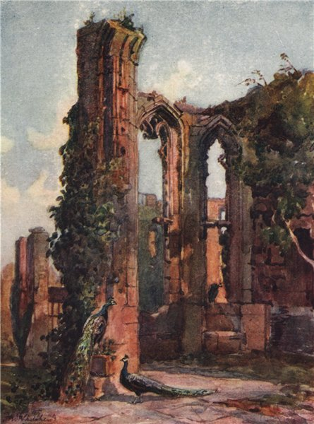 Associate Product 'Kenilworth Castle' by Frederick Whitehead. Warwickshire 1906 old print