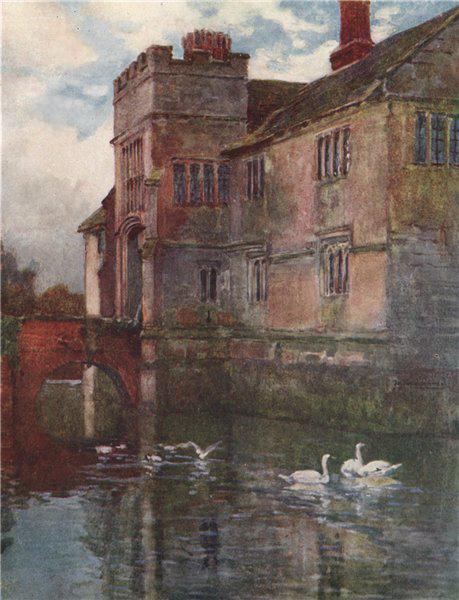 Associate Product 'Baddesley Clinton Hall' by Frederick Whitehead. Warwick, Warwickshire 1906
