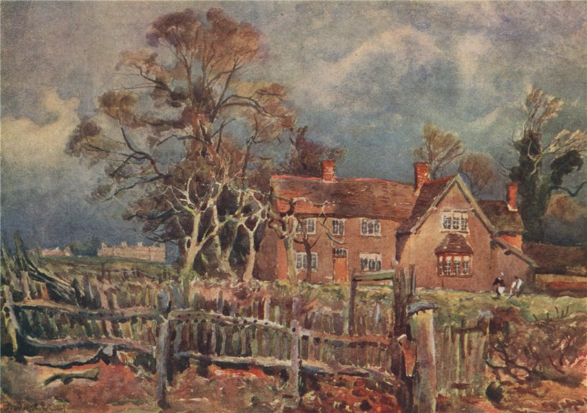"""Associate Product 'Arbury, Birthplace of """"George Eliot""""' by Frederick Whitehead. Warwickshire 1906"""