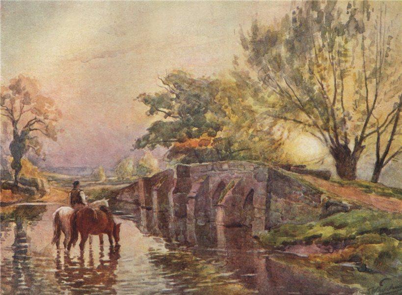 Associate Product 'Hampton-in-Arden (Packhorse Bridge)' by Frederick Whitehead. Warwickshire 1906