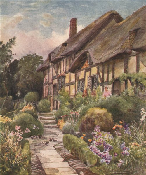 Associate Product 'Ann Hathaway's Cottage' by Frederick Whitehead. Warwickshire 1906 old print