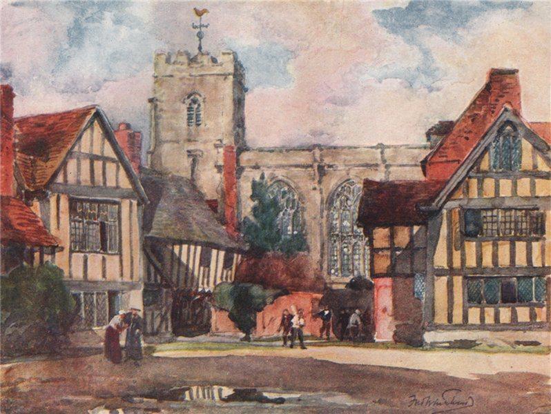Associate Product 'Stratford-on-Avon, the Grammar School'. Frederick Whitehead. Warwickshire 1906