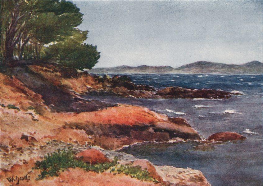 CARQUEIRANNE. 'On the shore near Carquéiranne' by Scott. Var 1907 old print