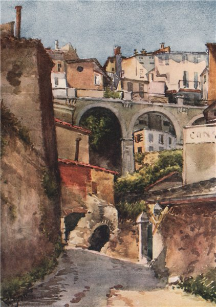 Associate Product GRASSE. 'Street in Grasse' by William Scott. Alpes-Maritimes 1907 old print