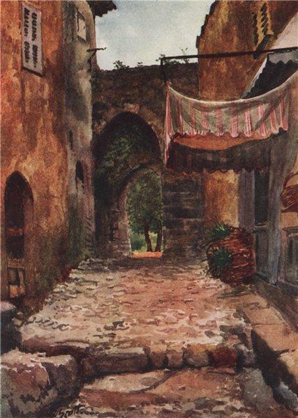 Associate Product AURIBEAU. 'Entrance gate, Auribeau' by Scott. Alpes-Maritimes 1907 old print