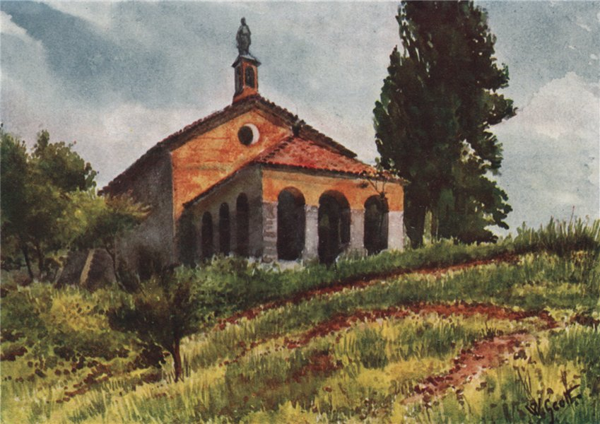 Associate Product 'Church near Vallauris' by William Scott. Alpes-Maritimes 1907 old print